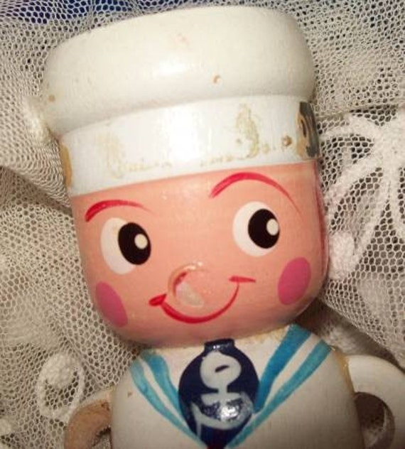 Ahoy There Sailor - Wooden Sailor Egg Cup
