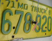 Vintage Missouri Truck License Plate Tag Clock