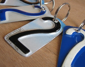 Number Two License Tag Keychain
