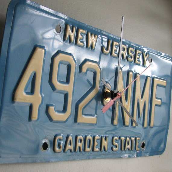 New Jersey License Plate Tag Clock