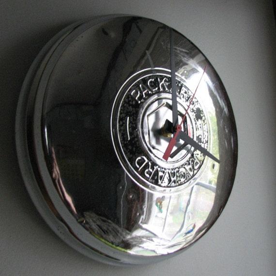 1951-1954 Vintage Packard Hubcap Clock