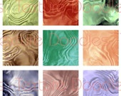 Liquid Metal -- (63) 1 x 1 Inch Graphics -- Digital Collage Sheet