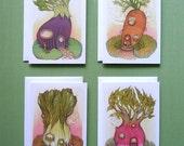 Vegi House's - 4 Card Set