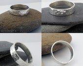 Sterling silver hammered ring - made to order