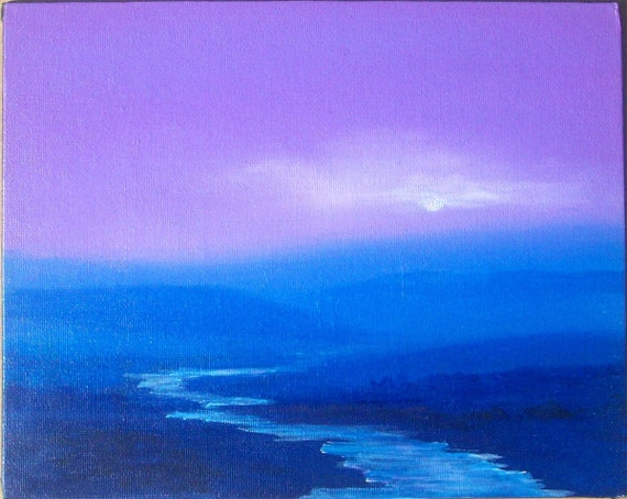 8x10  Original small canvas painting - Summit View