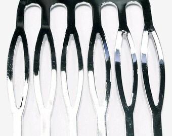 6 Metal Hair Combs, Premium - 35mm (1 3/8 inch)
