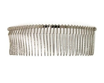 12 Metal Hair Combs 32 Teeth - 5 inch (130mm)