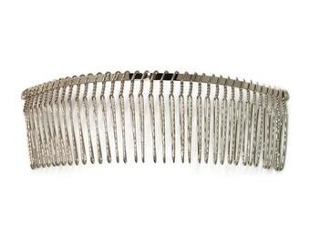 6 Metal Hair Combs 36 Teeth - 5.75 inch (145mm)