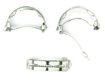 24 Metal Ponytail Barrette Hair Clips - 50mm (2 inch)