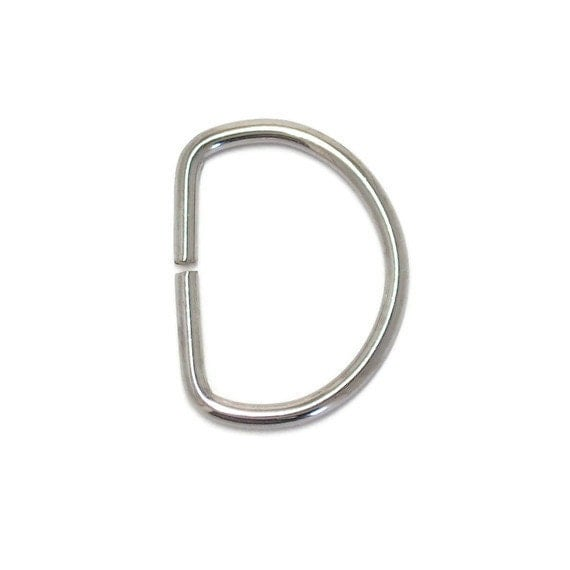 LIMITED STOCK 10 D Rings - 25mm x 33mm (1 inch x 1 5/16 inch)