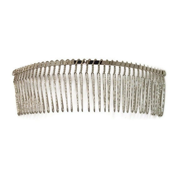 6 metal hair combs 36 teeth inch 145mm from for Metal hair combs for crafts