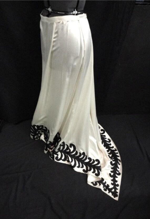 Stunning 1940s Long Silk Wedding Skirt with Train