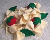 Felt Play Food - Bow Tie Pasta and Cherry Tomatoes and Basil