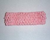 Lt. Pink Crochet Headband