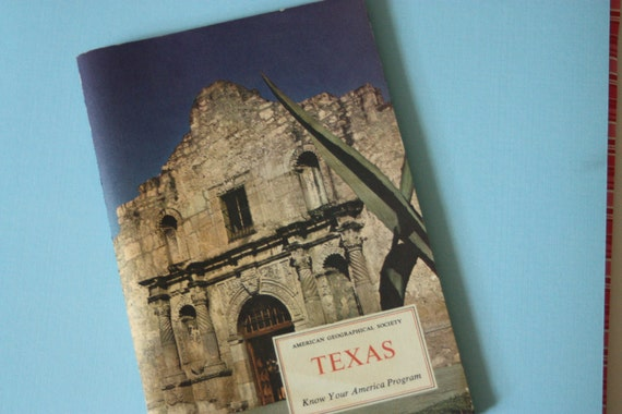 Vintage Texas American Geographical Society Book Stamps Pictures Unused