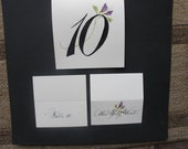 Floral Escort Cards and Table Numbers