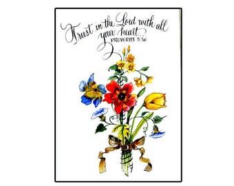 Handmade Christian Floral Greeting Card
