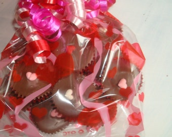 Hearts and Ribbons Peanut Butter Cups FREE SHIPPING