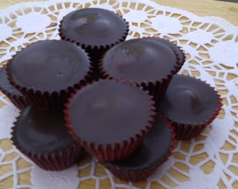 Dark Chocolate Half Pound Peanut Butter Cups FREE SHIPPING