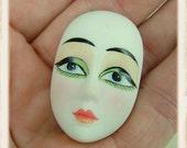 Vintage Porcelain Doll Face - GI Jane