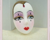 Vintage Doll Face Cabochon - Whitney - 1940's