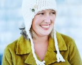 earf flap hat with vintage findings