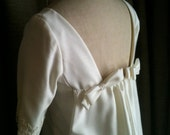 Vintage Emma Domb Off White Vintage Wedding gown from the 1960s size small / 5 short sleeve