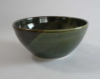 Natural Brown Green Bowl