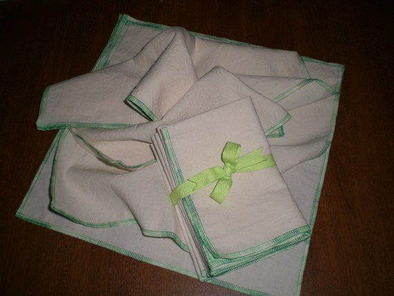 GO GREEN - Use Cloth Not Paper - Cloth Paper Towels - 6 Pack