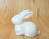 White Ceramic Bunny Rabbit.