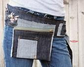 denim hip pouch - KB021