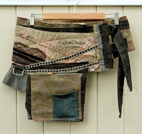 One of a kind Hip pouch / Utility waist bag  - KHB033 ONE SIZE