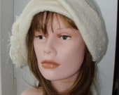 Sample  Whate Felted hat  - Diane