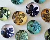 Flowers Make Me Happy - Set of 8 Glass Magnets