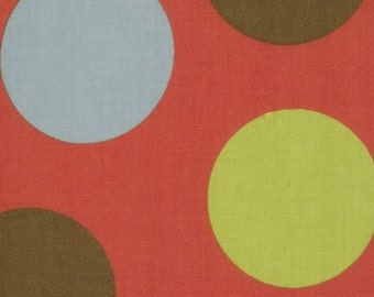 Moda Freebird MoMo fabric Balls Geranium Dots