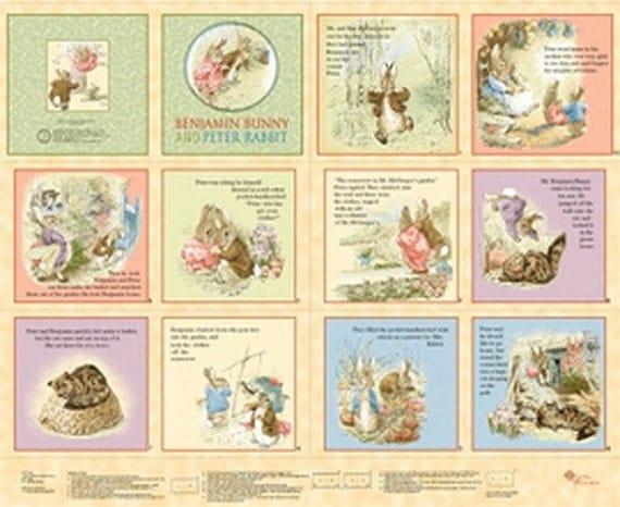 Quilting Treasures Benjamin Bunny Book Panel
