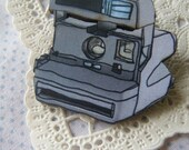 Polaroid Camera Brooch