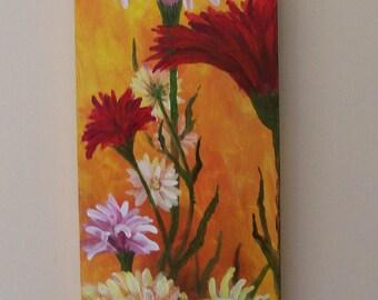Summer Flower Study Original Painting