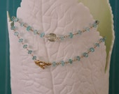 Apatite and Green Amethyst Necklace