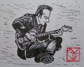 JOE STRUMMER HANGA an original print