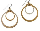 C U S T O M  for Mindy H.-larger moon earrings-gold