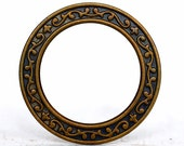 2pc 33mm Scrollwork Washer , Hand Finished Antique Brass Patina (A33A-BX)