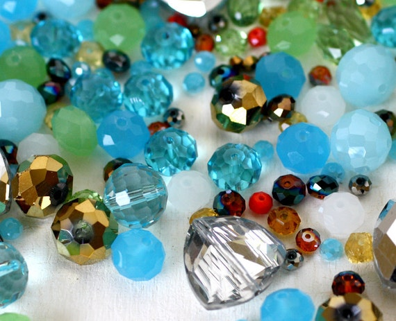 Vintage Sari Glass Bead Mix (VCC5)