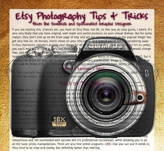 Etsy Pictures - Tips and Tricks from a Graphic Designer
