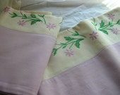 vintage cream and lavender cases