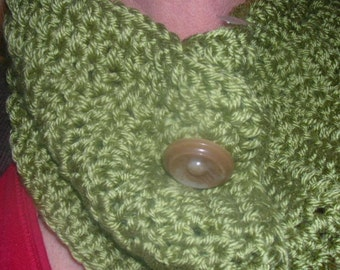 olive green neck warmer