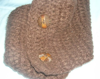 chocolate brown bamboo neck warmer