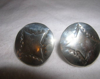 signed sterling silver earrings