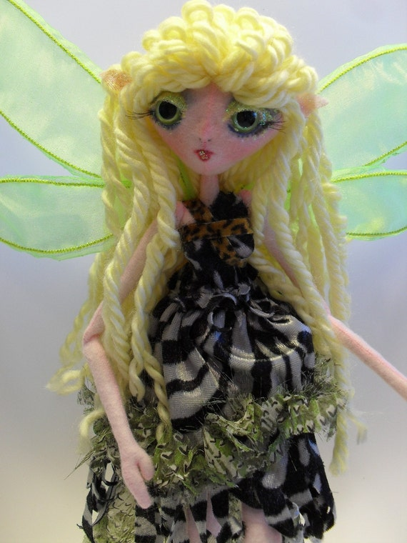 ON SALE Wild Child Faerie soft ball jointed fairy doll