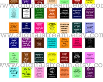 Short Quotes Scrabble Tile Size Digital Collage Sheet 49 Different .75x.83 Inch Size Images Scrapbooking